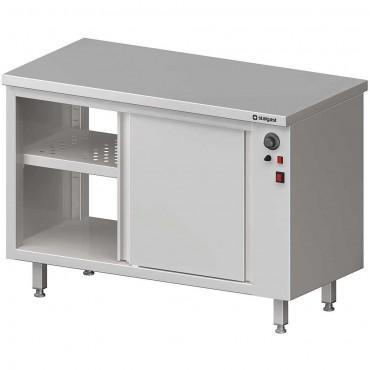 Stół przelotowy, z szafką grzewczą,drzwi suwane 1000x600x850 mm