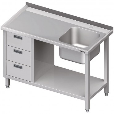 Stół ze zlewem 1-kom.(P), z...