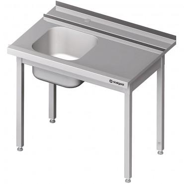 Stół załadowczy(P) 1-kom. bez półki do zmywarki SILANOS 800x760x900 mm spawany