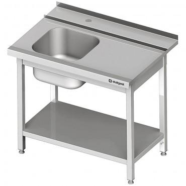Stół załadowczy(P) 1-kom. z półką do zmywarki SILANOS 800x760x900 mm skręcany