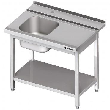 Stół załadowczy(P) 1-kom. z półką do zmywarki SILANOS 900x760x900 mm spawany