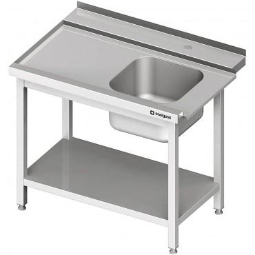 Stół załadowczy(L) 1-kom. z półką do zmywarki SILANOS 800x760x900 mm skręcany