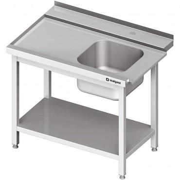Stół załadowczy(L) 1-kom. z półką do zmywarki SILANOS 800x760x900 mm spawany