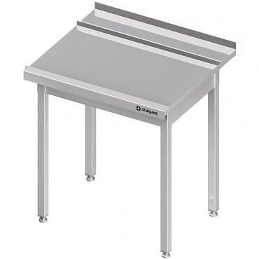 Stół wyładowczy(P), bez półki do zmywarki SILANOS 800x760x900 mm spawany