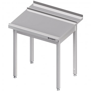 Stół wyładowczy(P), bez półki do zmywarki SILANOS 1000x760x900 mm skręcany