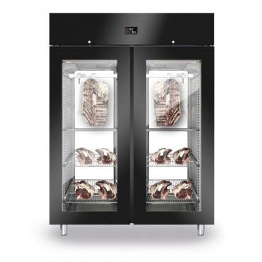 Szafa do sezonowania mięsa 2-drzwiowa przeszklona 1500l BLACK PANORAMA NEW2020