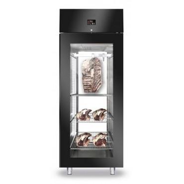 Szafa do sezonowania mięsa 1-drzwiowa przeszklona 700l BLACK PANORAMA NEW2020