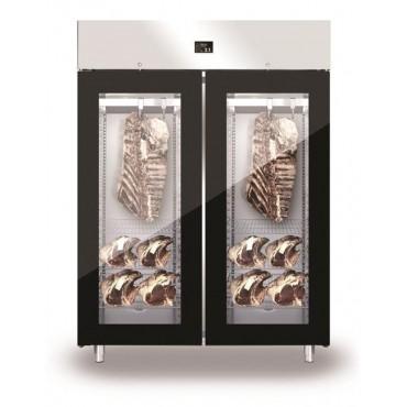 Szafa do sezonowania mięsa 2-drzwiowa przeszklona 1500l GLASS NEW2020