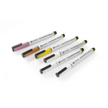Markery kredowe, różowy, żółty, brązowy, 3 x biały - zestaw 6 szt.