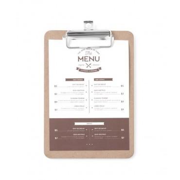 Podkładka pod kartę menu 125x180