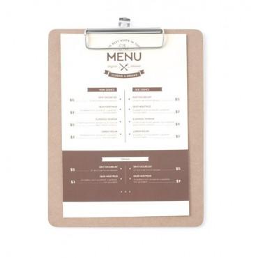 Podkładka pod kartę menu 185x245