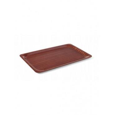 Taca antypoślizgowa drewniana - prostokątna, 360x460 mm 360x460