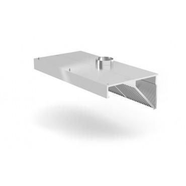 Okap przyścienny skośny bez oświetlenia, o wym. 1200x700x450 mm