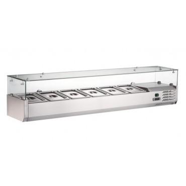 Nadstawa chłodnicza 9x GN1/3 max. H 150 mm do stołów 234846 i 234853