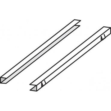 Prowadnice ze stali nierdzewnej na półki – zestaw 2 szt. Wszystkie szafy oprócz szaf PANORAMA