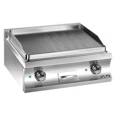 Płyta grillowa  stołowa, elektryczna ryfl owana 2x 6 kW