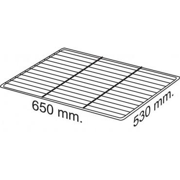 Półka ze stali plastyfikowanej, 650x530 mm