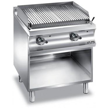 Grille z lawą wulkaniczną stołowy i na podstawie z trzech stron zamkniętej, gazowe Na podstawie, 2x 10 kW
