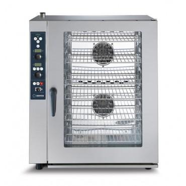 Piec combi Grafen z bezpośrednim natryskiem, systemem myjącym i sondą - elektryczne 10 x GN 1/1