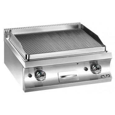 Płyta grillowa stołowa, gazowa gładka chromowana 2x 8 kW