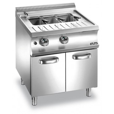 Urządzenie do gotowania makaronu i pierogów na szafce, gazowe 40 l + 40 l
