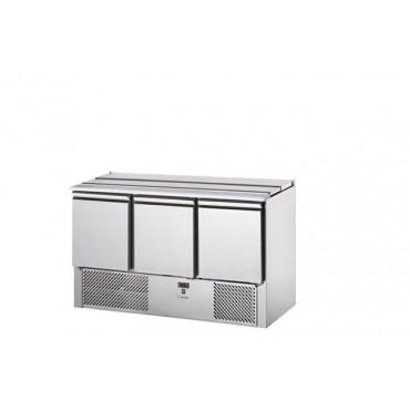 Stół chłodniczy sałatkowy 3-drzwiowy, pokrywa uchylna