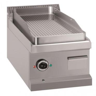 Płyta grillowa stołowa - elektryczna, ryflowana, linia 700