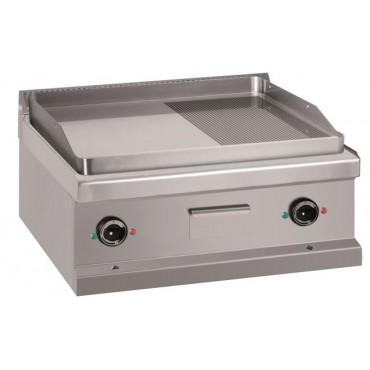 Płyta grillowa stołowa - elektryczna, 1/2 gładka +1/2 ryflowana, linia 700