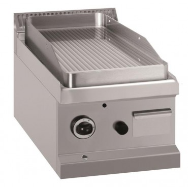 Płyta grillowa stołowa - gazowa, ryflowana, linia 700