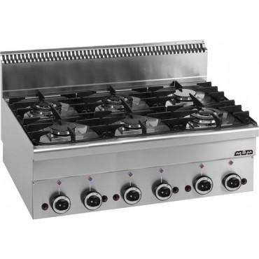Kuchnia gazowa stołowa MBM600 6-palnikowa