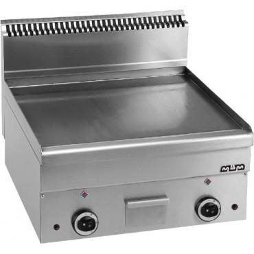 Płyta grillowa stołowa,gładka chromowana - gazowa MBM600