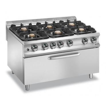 Kuchnie gazowe z nowymi palnikami Flex Burners o mocy 7 KW I 11 KW, z piekarnikiem gazowym Maxi gazowy statyczny