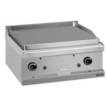 Płyta grillowa stołowa - gazowa, ryflowana linia 700