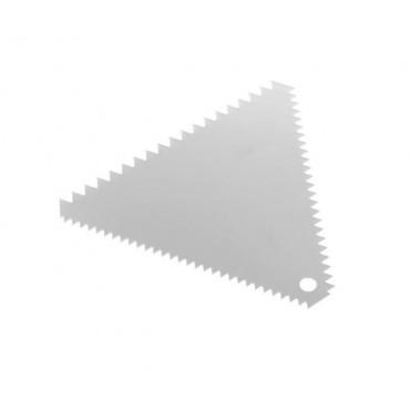 Skrobka cukiernicza trójkątna grzebień Wykonana ze stali nierdzewnej