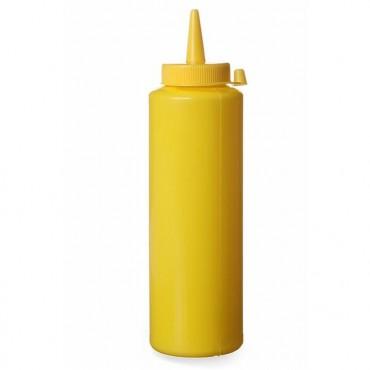Dyspenser do zimnych sosów  0,35 żółty zestaw 3 szt.