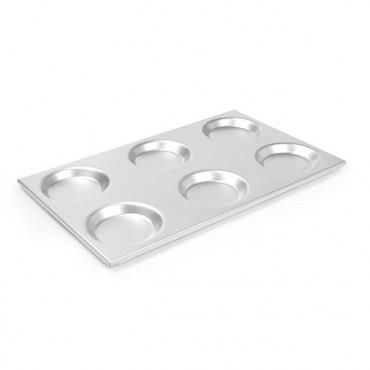 Taca aluminiowa GN 1/1 z okrągłymi formami  530x325