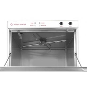 Zmywarka do szkła 40x40 - sterowanie elektromechaniczne z dozownikiem detergentu i pompą spustową
